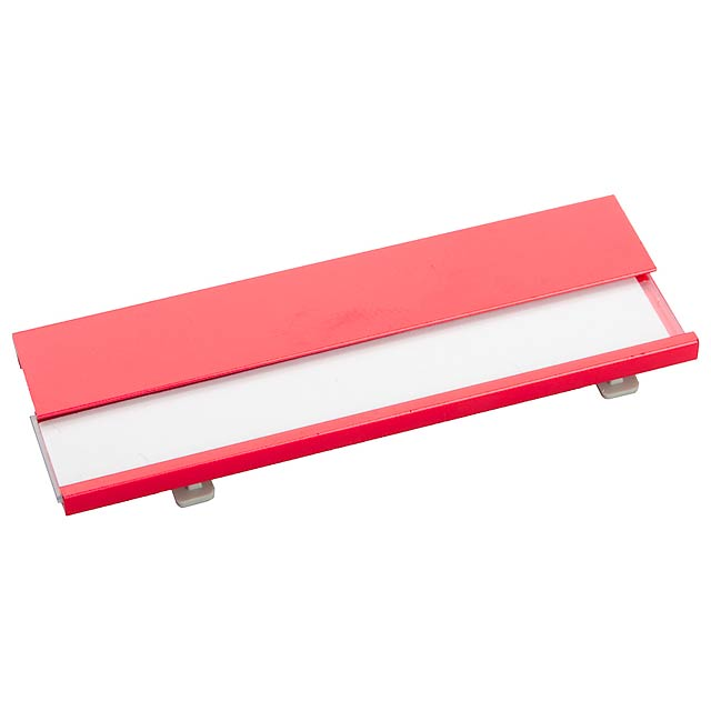 Bindel jmenovka - červená