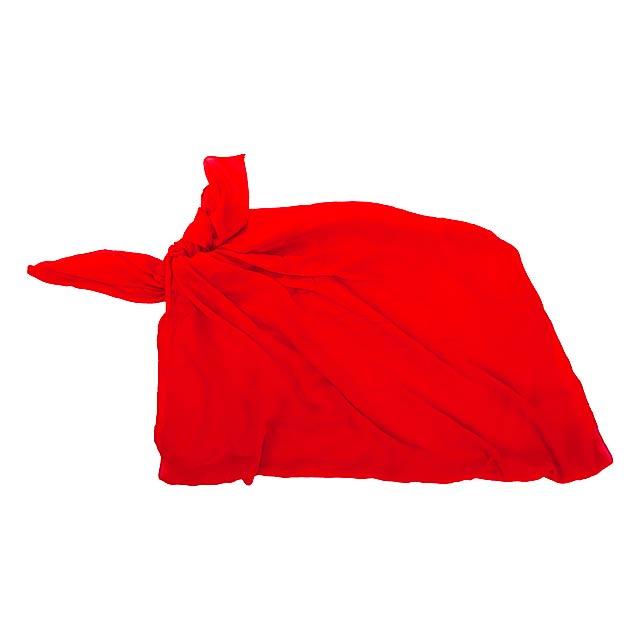 Duma plážový šátek - červená