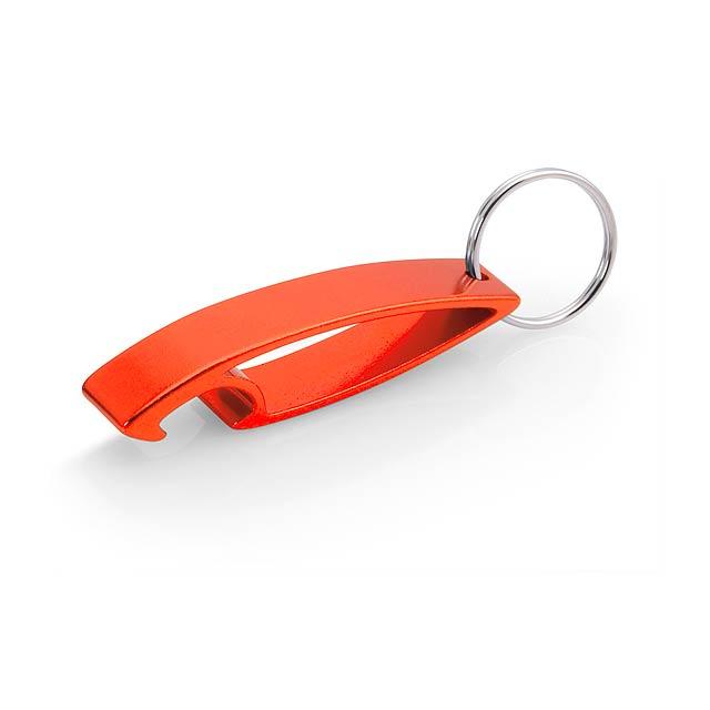 Samo přívěšek na klíče s otvírákem - oranžová