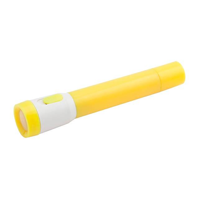 Tinga kuličkové pero se svítilnou - žlutá