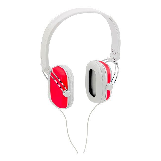 Tabit sluchátka - červená
