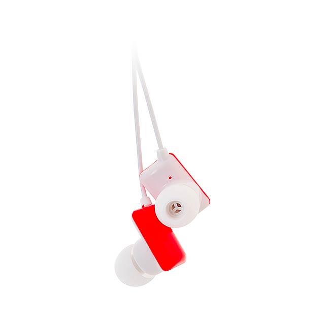 Kemet sluchátka - červená