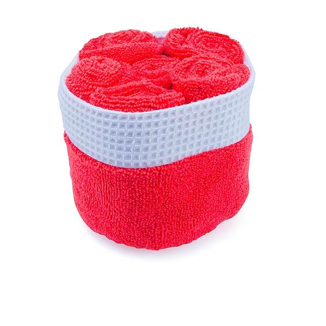 Tekla sada ručníků - červená