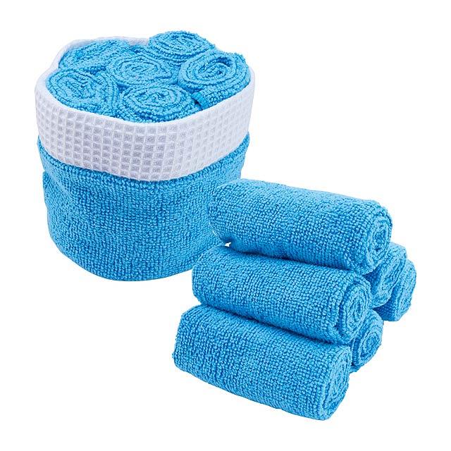 Tekla sada ručníků - modrá