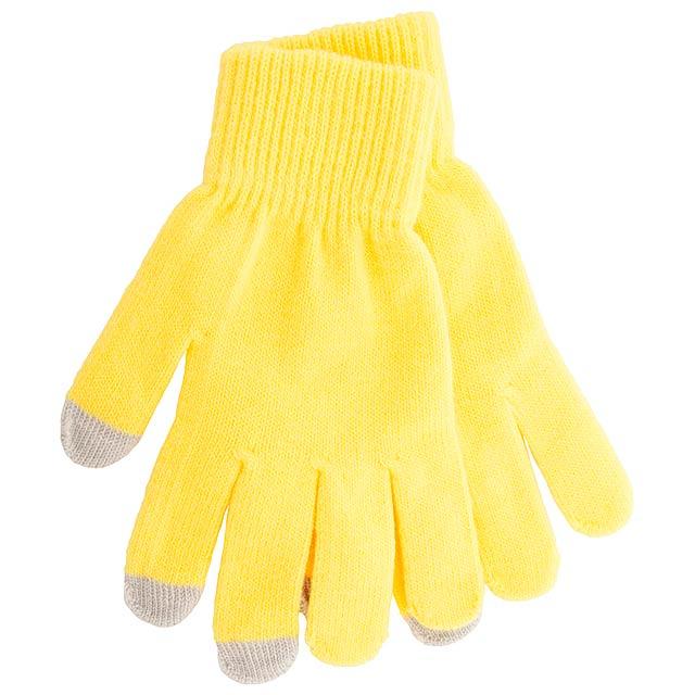 Actium dotykové rukavice na obrazovku - žlutá