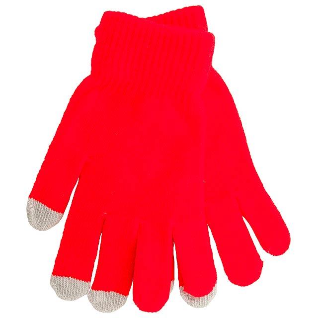 Actium dotykové rukavice na obrazovku - červená
