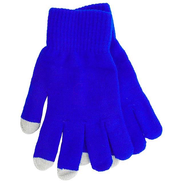 Actium dotykové rukavice na obrazovku - modrá