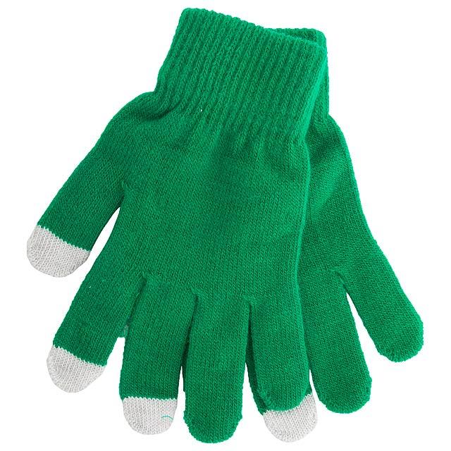 Actium dotykové rukavice na obrazovku - zelená