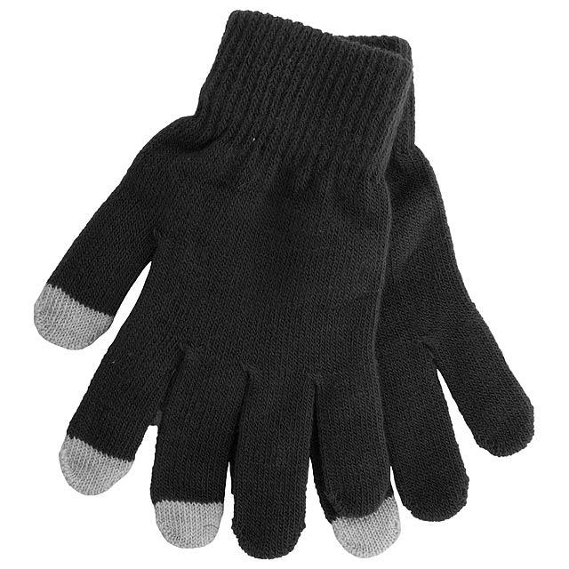 Actium dotykové rukavice na obrazovku - černá