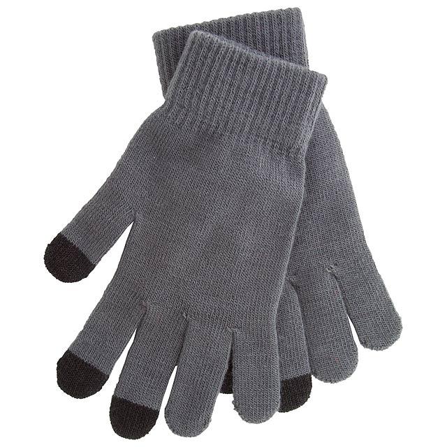 Actium dotykové rukavice na obrazovku - šedá