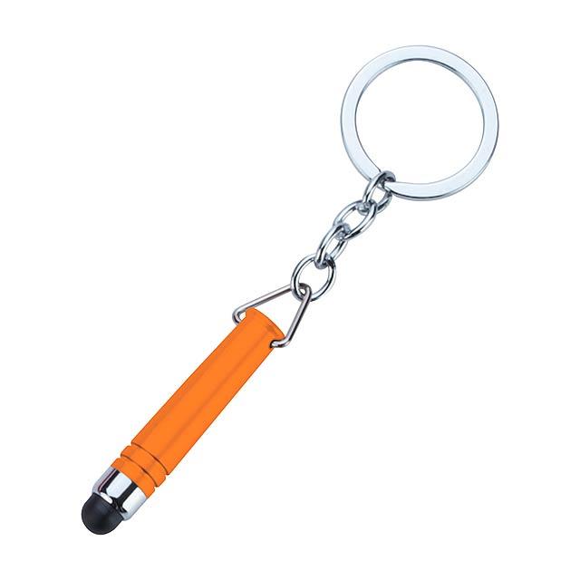 Indur klíčenka s dotykovým perem - oranžová