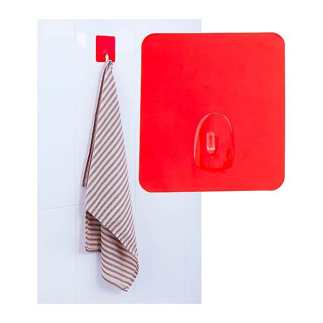 Rucco víceúčelový věšáček - červená