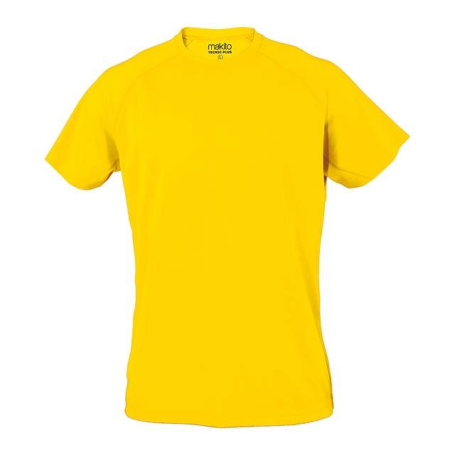 Tecnic Plus T sportovní tričko - žlutá