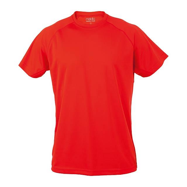 Tecnic Plus T sportovní tričko - červená