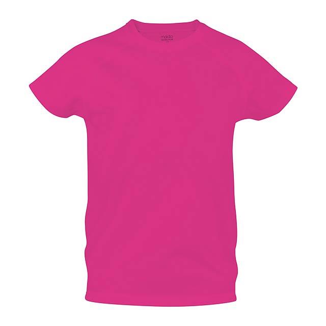 Sportovní prodyšné tričko ze 100% polyesteru, 135 g/m². - růžová - foto
