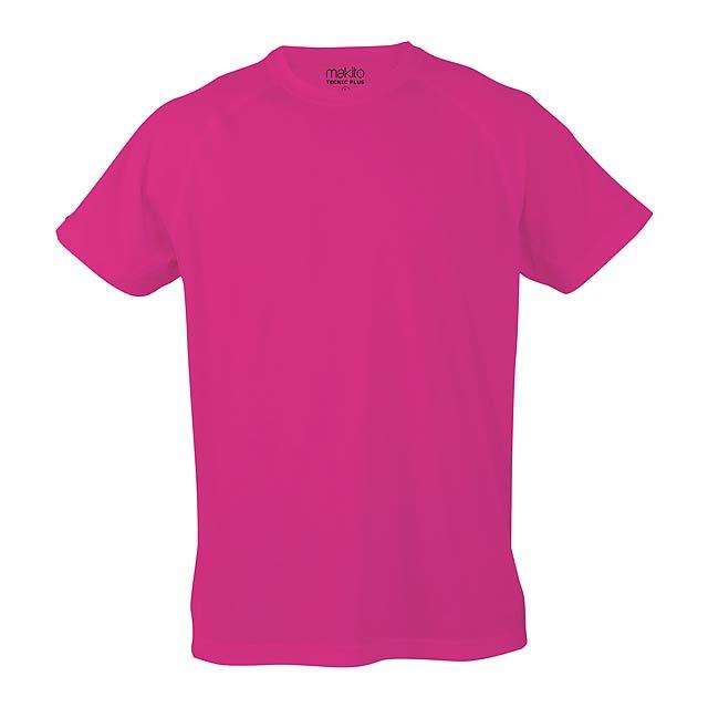 Sportovní prodyšné tričko pro děti ze 100% polyesteru, 135 g/m². - růžová - foto