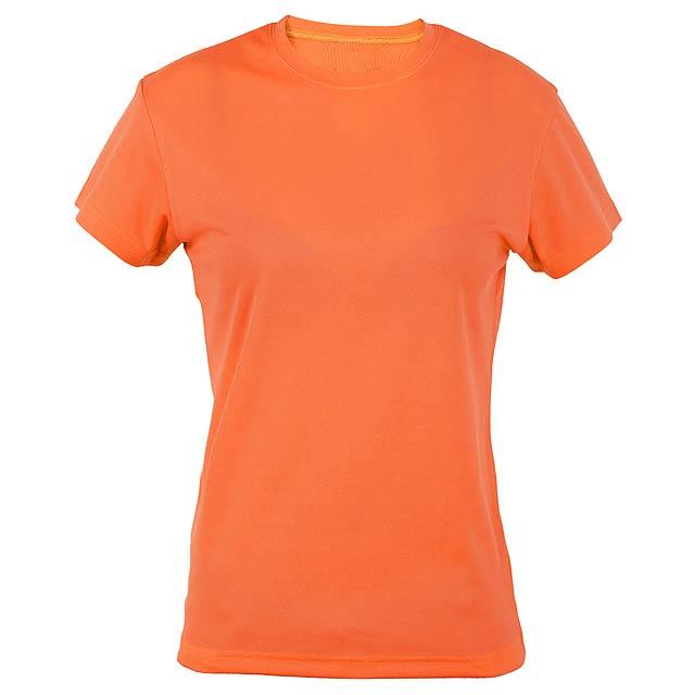 Funkční dámské tričko, prodyšné. Polyester 135 g/m². - oranžová - foto