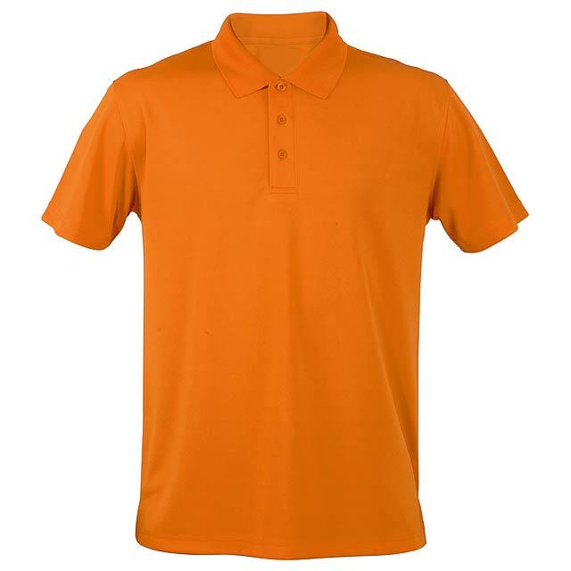 Funkční polokošile, prodyšná. Polyester 180 g/m². - oranžová - foto