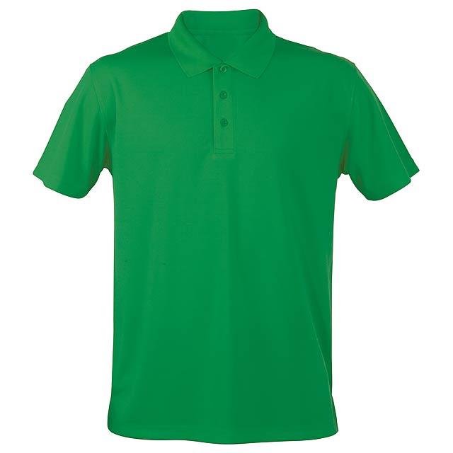 Funkční polokošile, prodyšná. Polyester 180 g/m². - zelená - foto