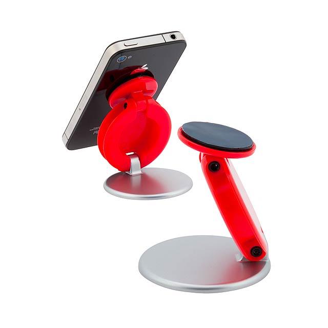 Tever nastavitelný stojánek na mobil - červená