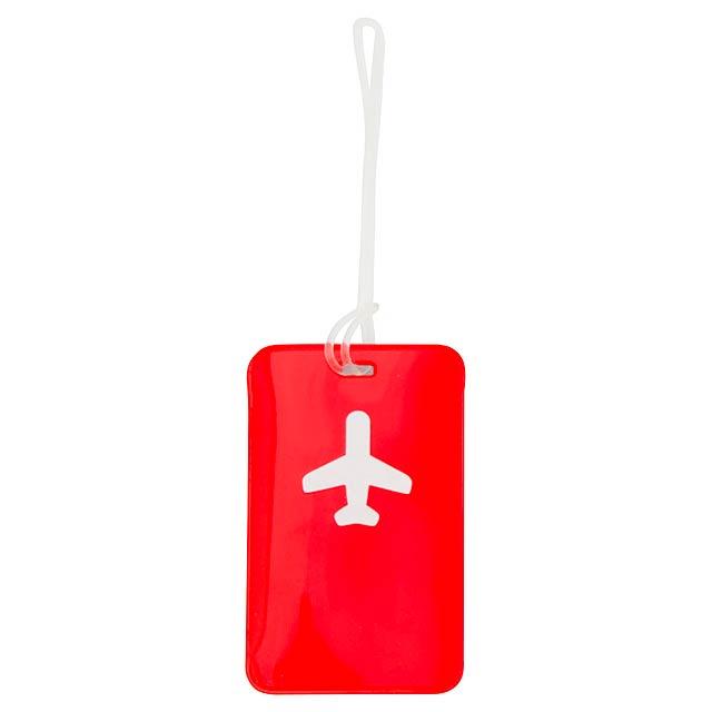 Raner visačka na zavazadla - červená