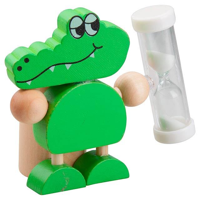 Crocky stojánek na zubní kartáček - zelená
