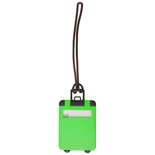 Glasgow visačka na zavazadla - zelená