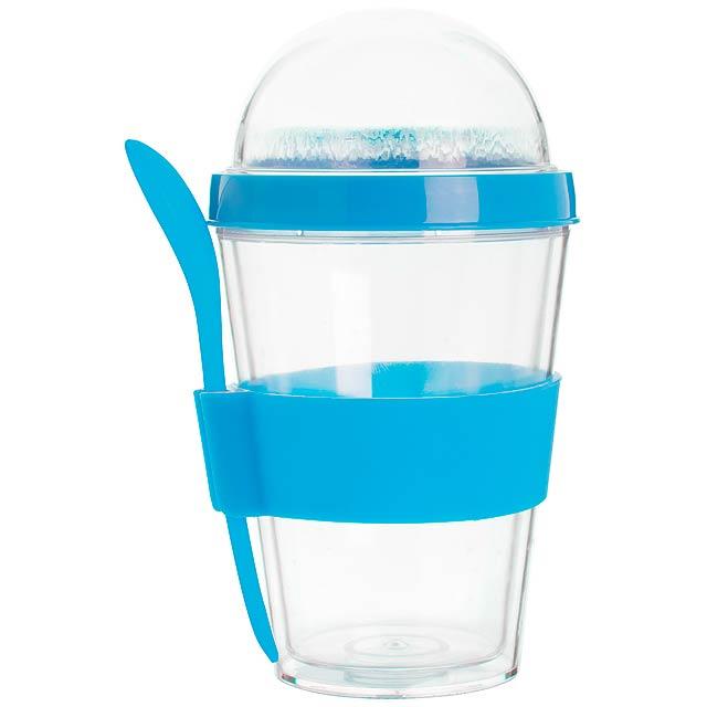 Bircher kelímek na jogurt - modrá