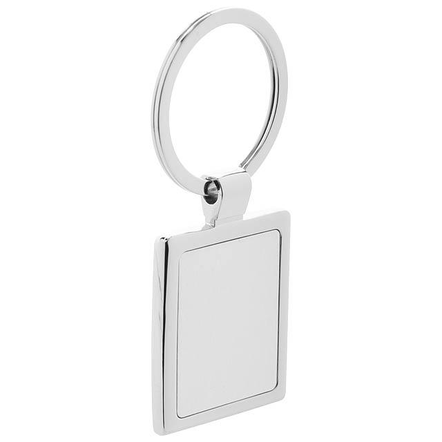 Rectangle přívěšek na klíče - stříbrná