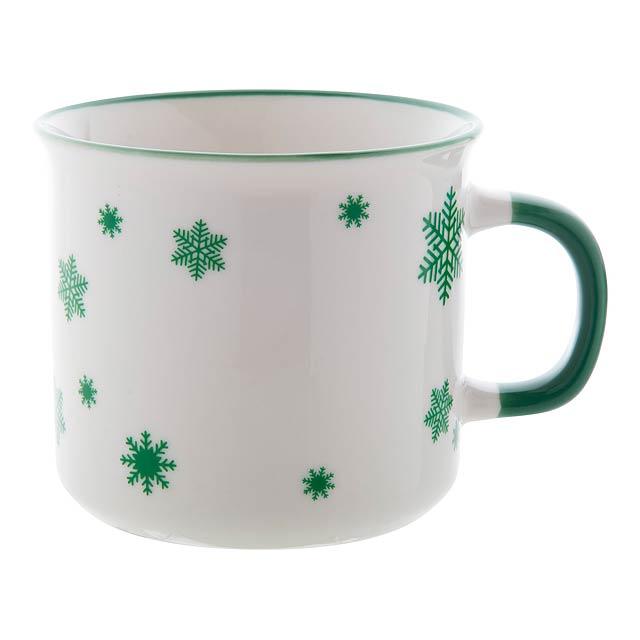 Nakkala retro vánoční hrnek - zelená