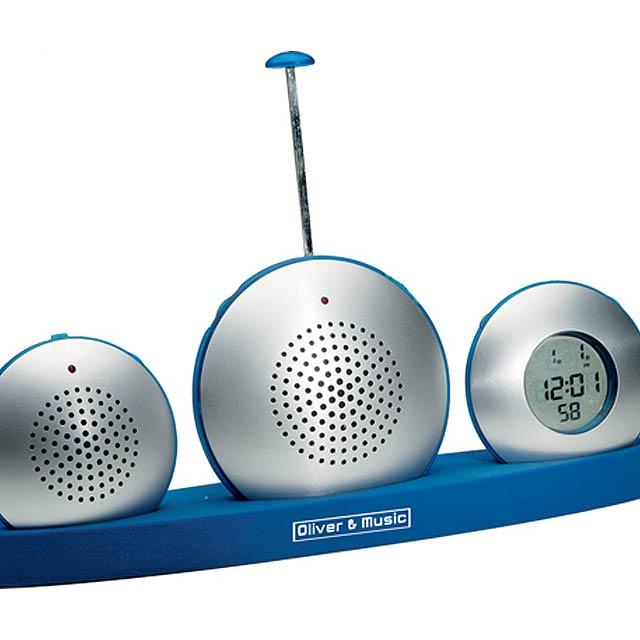 Reath diktafon-rádio-hodiny - stříbrná