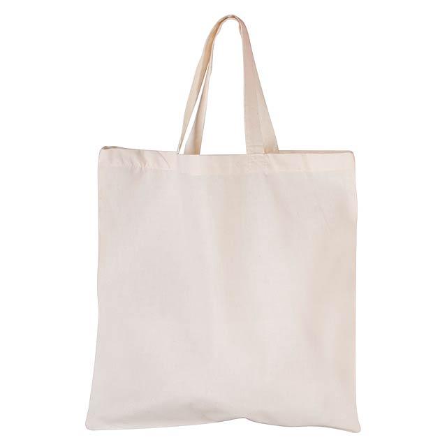 Shorty bavlněná nákupní taška - béžová