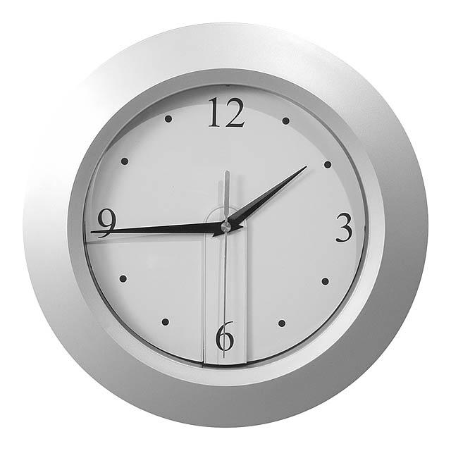 Brattain nástěnné hodiny - strieborná