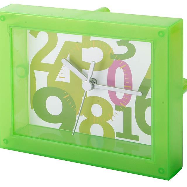 Timestant transparentní stolní hodiny - zelená