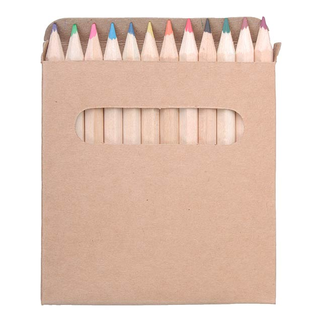 Set of 12 pencils - wood
