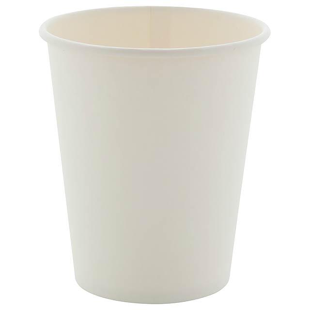Papcap M papírový kelímek, 240 ml - bílá