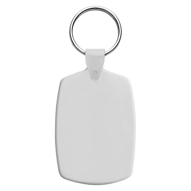 Slice přívěšek na klíče - bílá