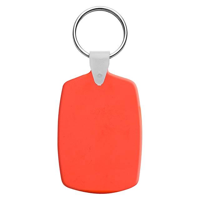Slice přívěšek na klíče - oranžová