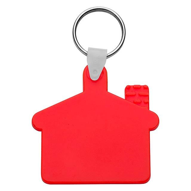 Cottage přívěšek na klíče - červená