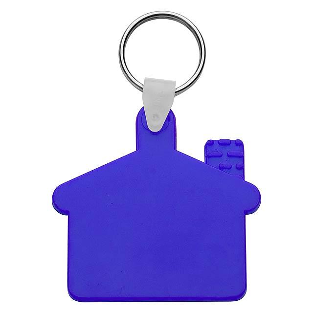 Cottage přívěšek na klíče - modrá
