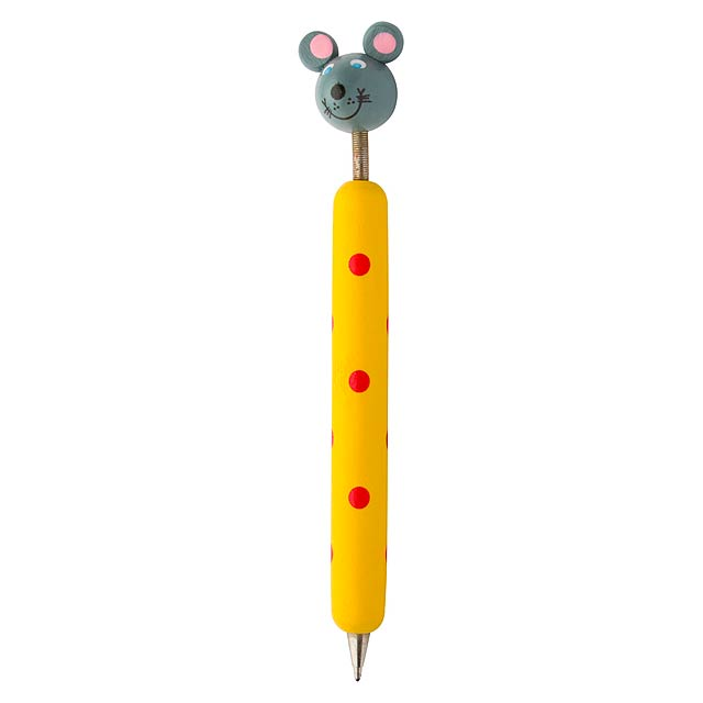 Zoom propiska s postavou, myš - multicolor