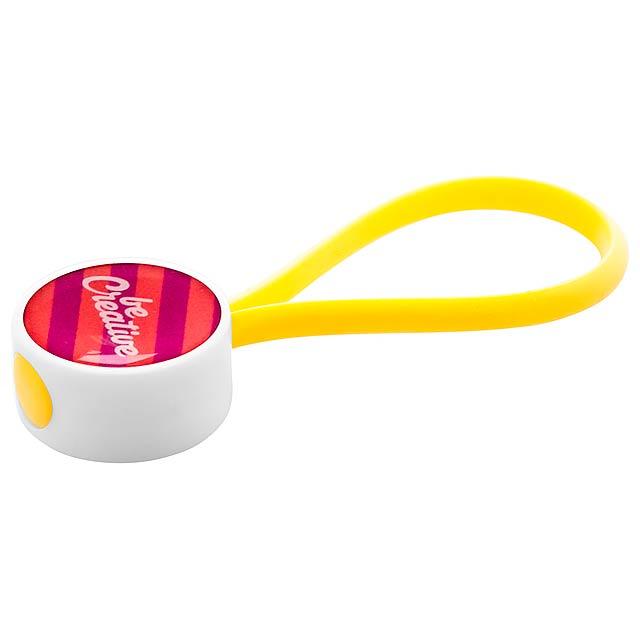 CreaKey přívěšek na klíče na zakázku - smyčka - žlutá