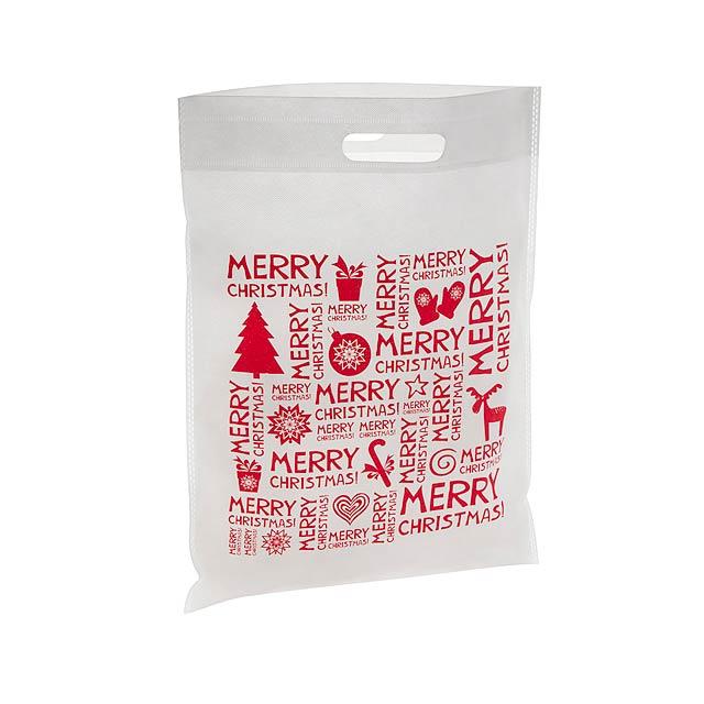 Xugi nákupní vánoční taška - bílá