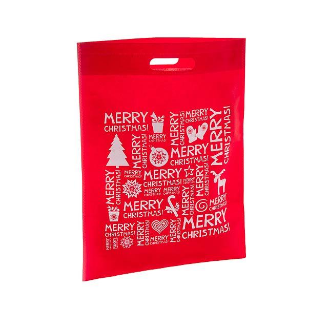 Xugi nákupní vánoční taška - červená