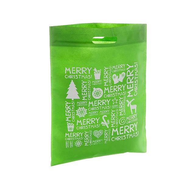 Xugi nákupní vánoční taška - zelená