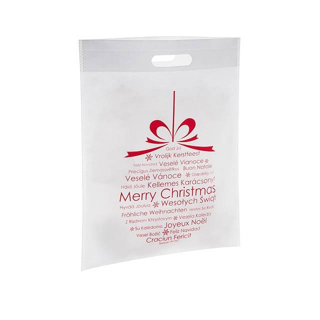 Xagi nákupní vánoční taška - biela