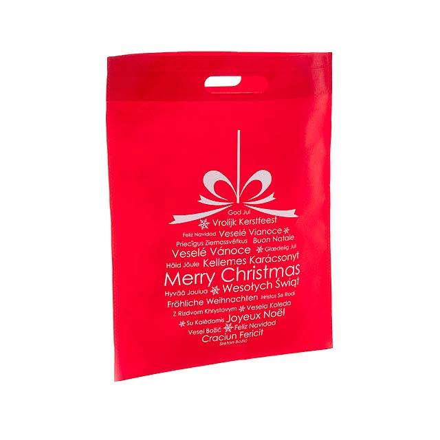 Xagi nákupní vánoční taška - červená
