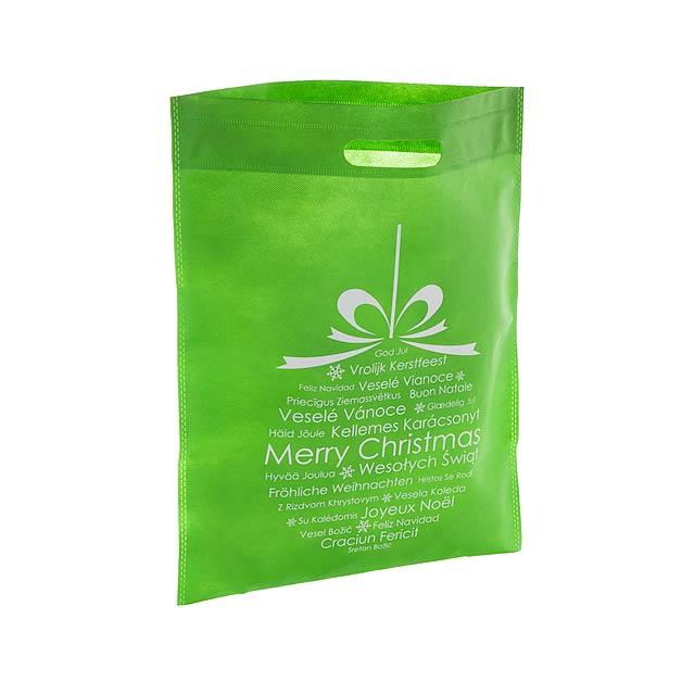 Xagi nákupní vánoční taška - zelená