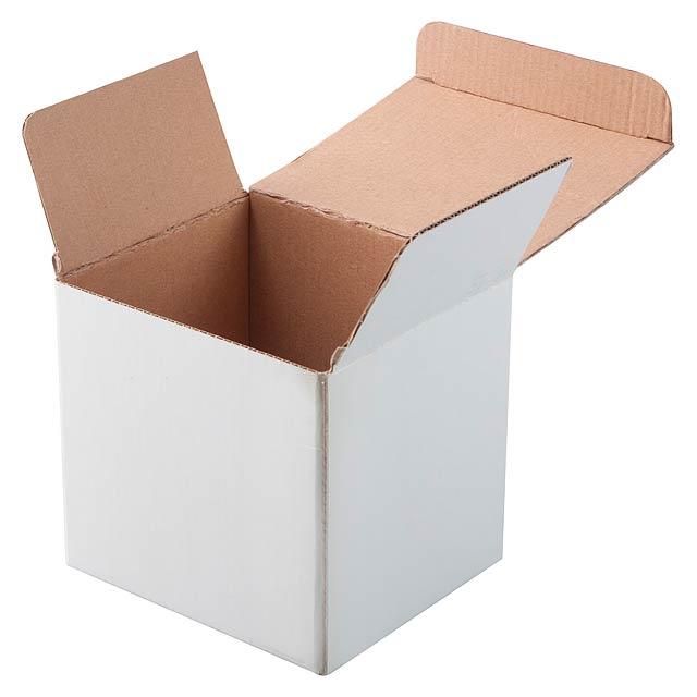Three krabička na hrnky - bílá