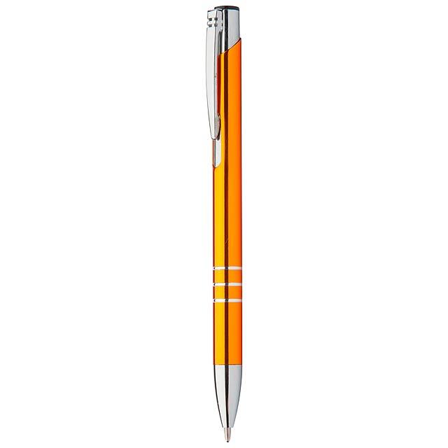 Channel kuličkové pero - oranžová